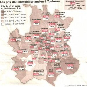 prix immobilier toulouse octobre 2011 300x299 1er bilan de lannée immobilère 2011 à Toulouse